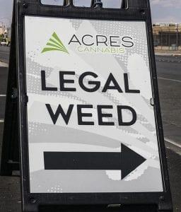Acres Cannabis sign