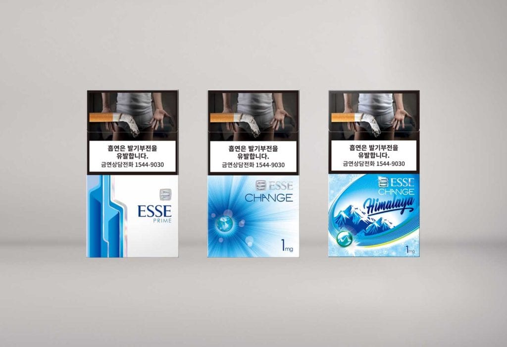 KT&G cigarettes sold in the domestic market