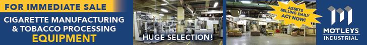 For Immediate Sale - Cigarette Manufacturing & Tobacco Processing Equipment