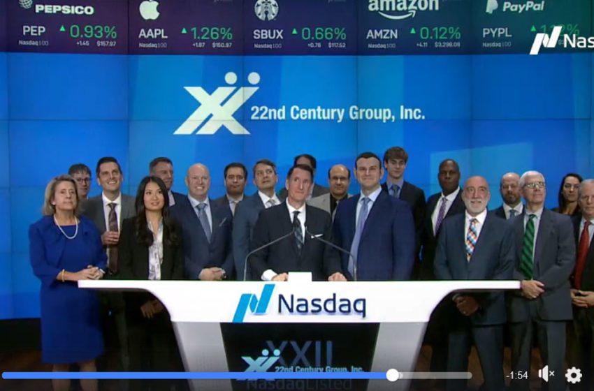 22nd Century Rings NASDAQ Closing Bell