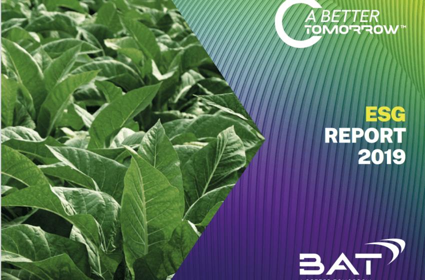 BAT Runner-Up for Best ESG Report