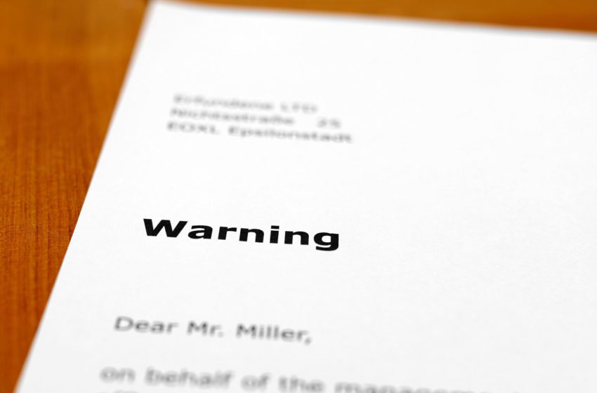 Warnings After 'Refuse to Accept' Notices